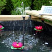 2 Watt starke Solar-Teichpumpe für Wasserspiele -