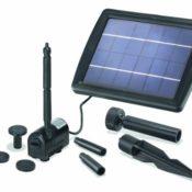 Solar Teichpumpe mit einem 2 Watt Solarmodul